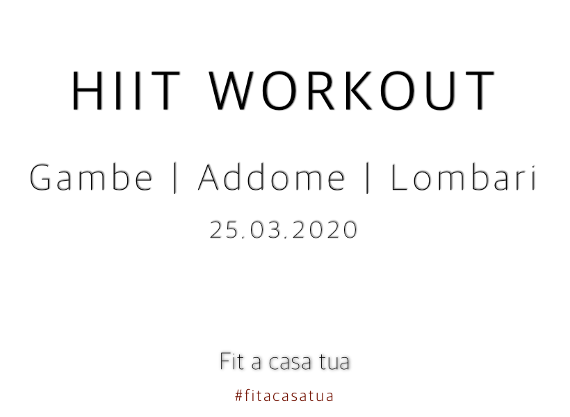 HIIT WORKOUT HOME