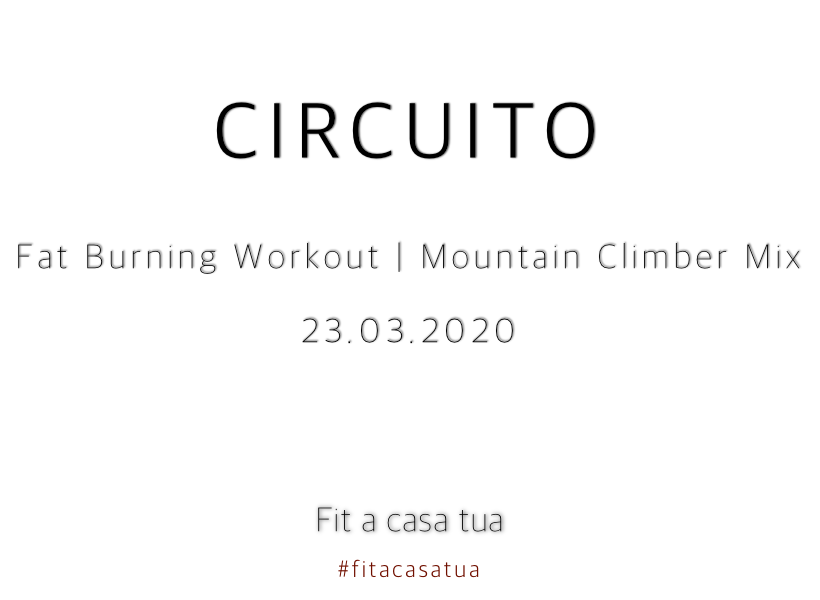FAT BURNING WORKOUT   Addome sotto attacco