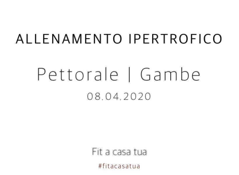 ALLENAMENTO IPERTROFICO | Pettorali + Gambe