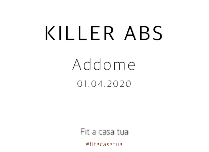 KILLER ABS | Addome d'acciaio