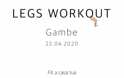 LEGS  WORKOUT | Gambe a 360°